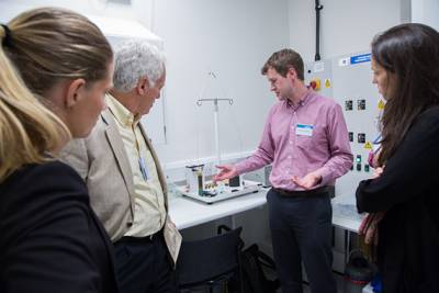 Group tour at UCLH Cancer Centre…