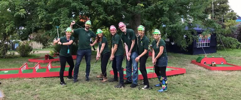 Team at Green Man