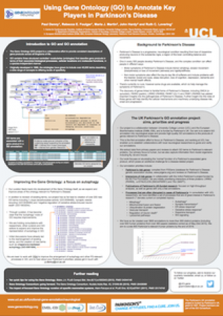 Parkinson project UCL Neuroscience poster 2015