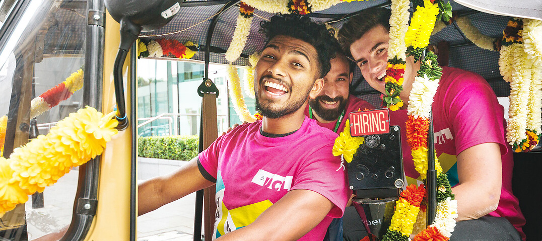 Interns in a Tuk Tuk