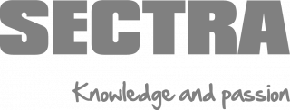 Logo that reads: Sectra, Knowledge and Passion