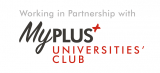 My plus university logo