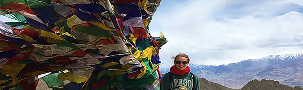 Student on mountain