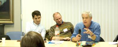 The Centre for Applied Archaeology representatives participate in a roundtable discussion