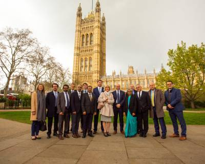ICGNMD PIs outside Palace of Westminster