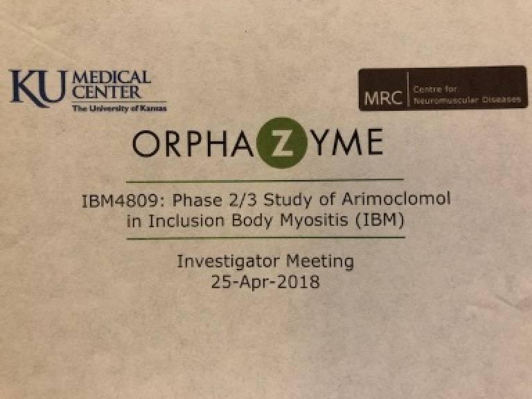 Kick off meeting for Orphazyme arimoclomol trial