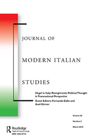 Journal of Modern Italian Studies - Hegel in Italy