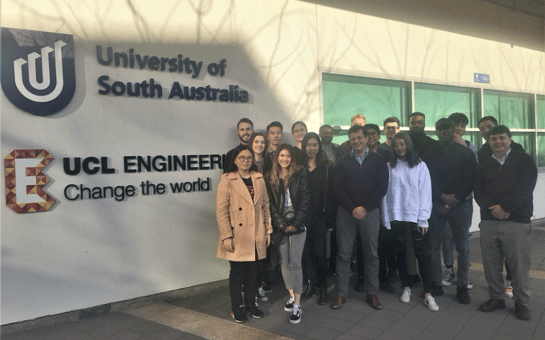 Group image of MSc in GMNR students at the University of South Australia