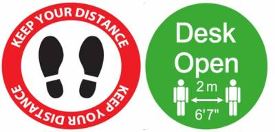 Covid Distance Signs