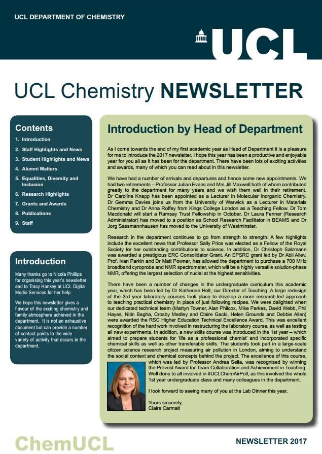 2017 Chemistry Newsletter…