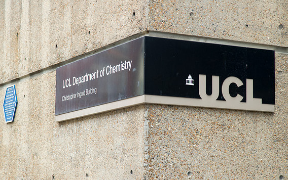 UCL Department of Chemistry sign