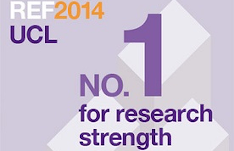 REF 2014 UCL number 1 for research strength
