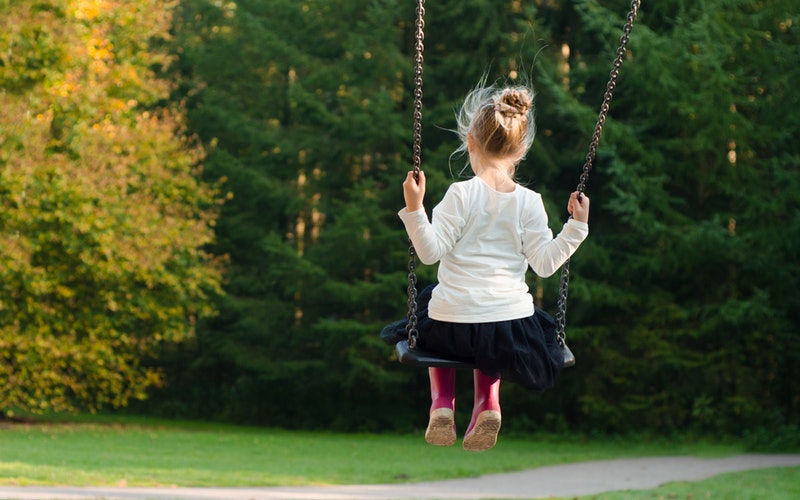 Chlid on swing