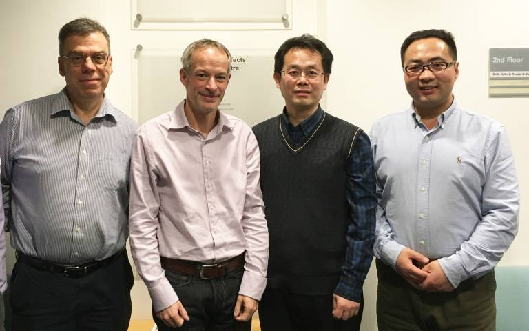 Image of Nick Greene and Andy Copp and colleagues from Peking University