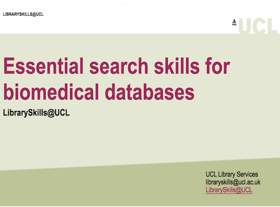 essential skills biomedical databases