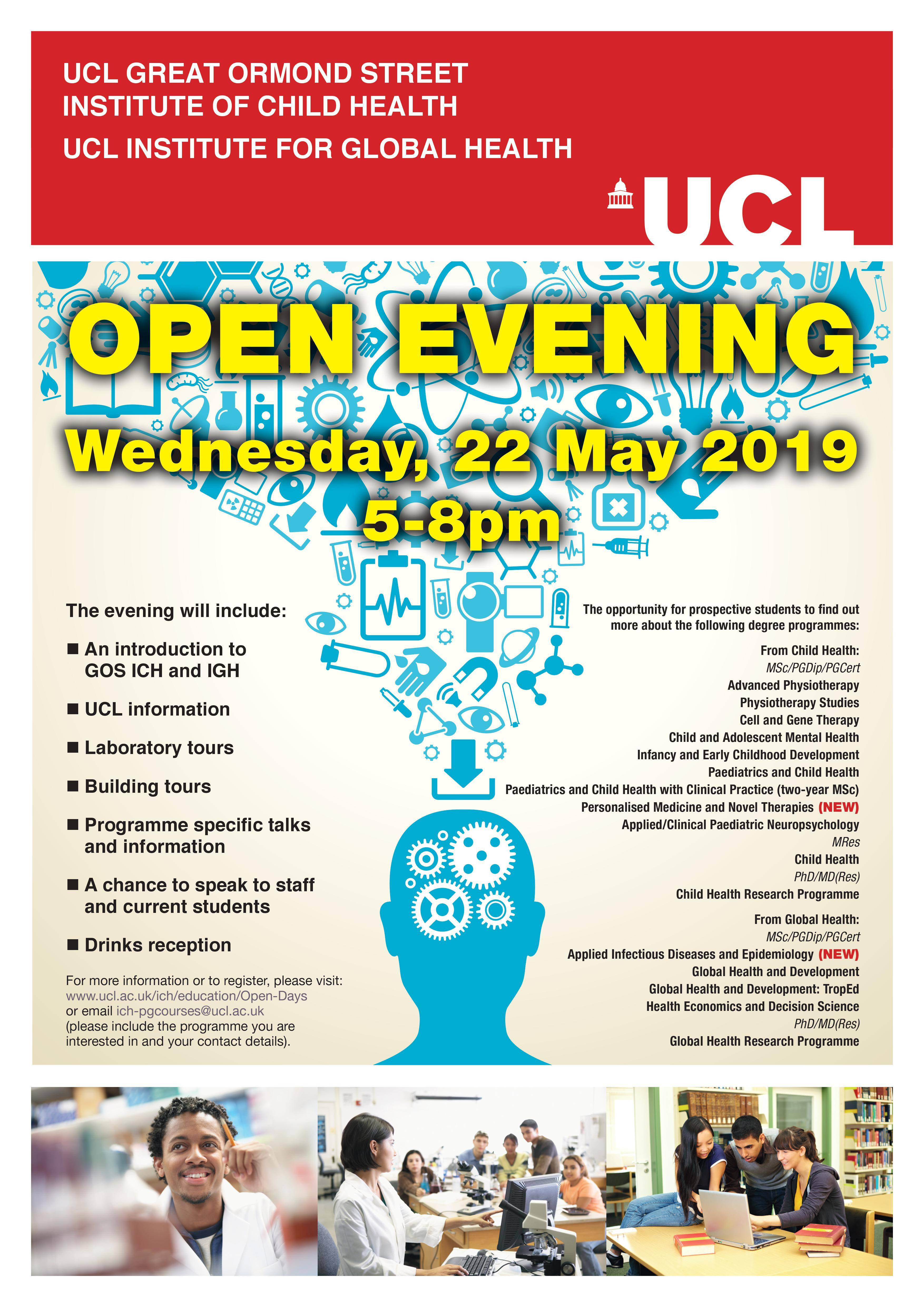 UCL GOS ICH Open Evening May 2019