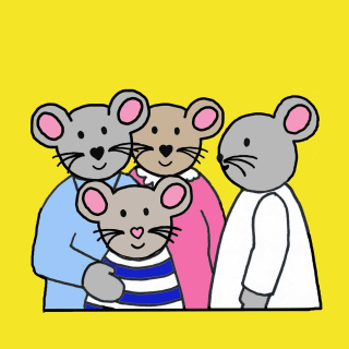 Mice Family Illustration