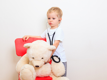 Child with bear