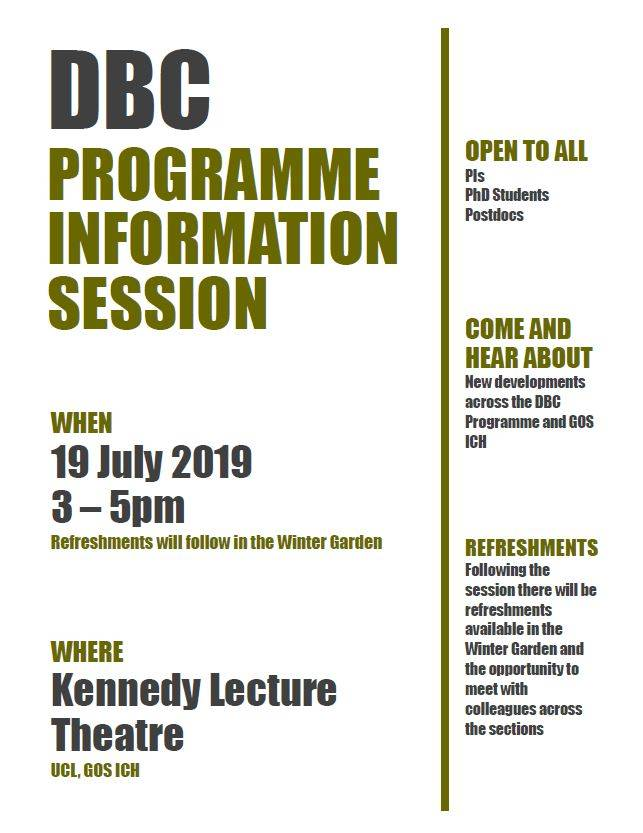 DBC Information Session Poster