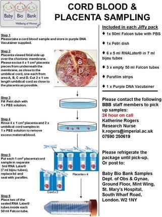 Placental and cord blood sampling