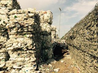 closed loop recycling plastic bales