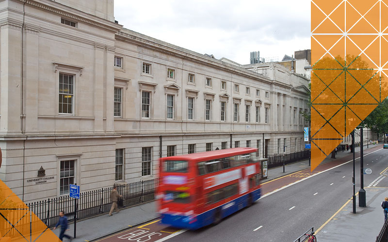 A view of the UCL Chadwick Building and Gower Street.