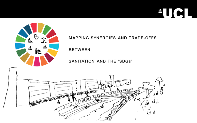 A poster with the UCL banner and an SDG project logo.