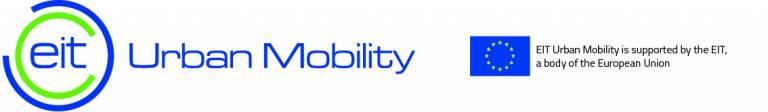 The EIT Urban Mobility logo next to a small EU flag.