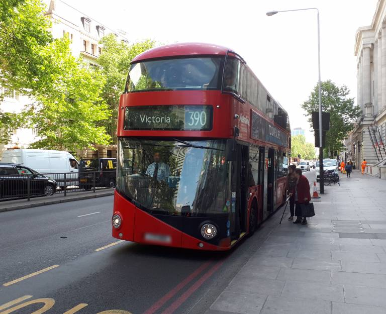 A picture of a London double-decker bus