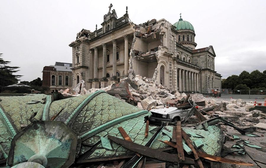 Destruction caused by the 2011 Christchurch earthquake