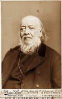 A picture of Sir Edwin Chadwick, British public health reformer.