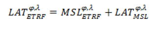 Lowest astronomical tide formulae