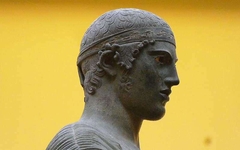 Charioteer (head of statue), Delphi Museum