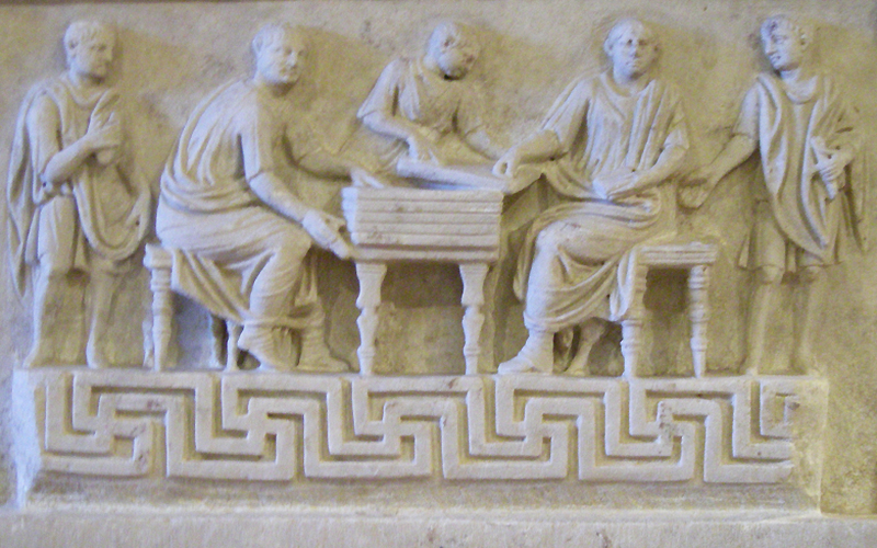 Rome Museo delle Terme bas relief wax tablets
