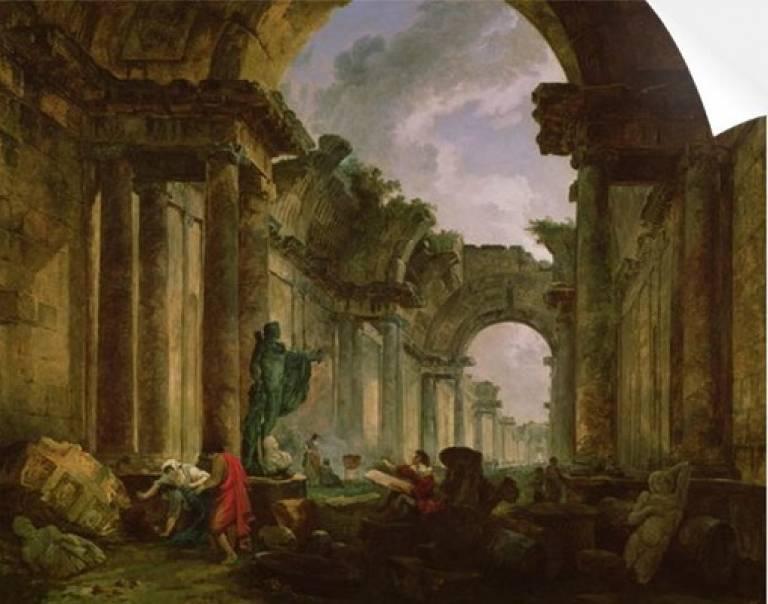 Robert_Louvre_ruins