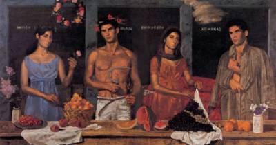 Tsarouchis Four Seasons 1969