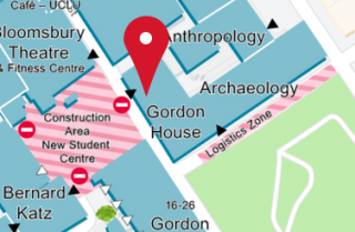 Gordon House map