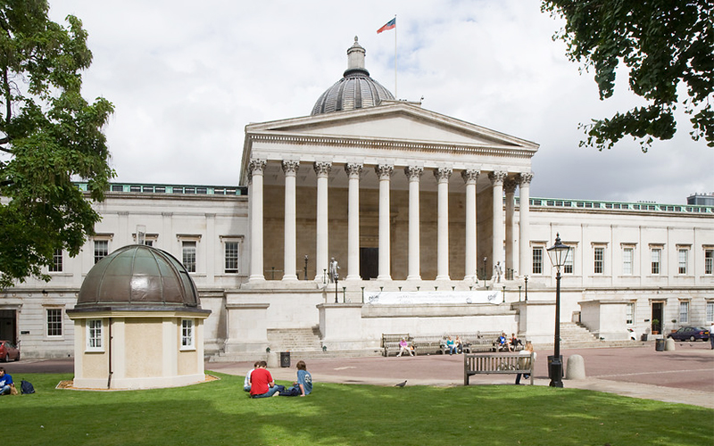 UCL Quad, Wilkins Building, summer