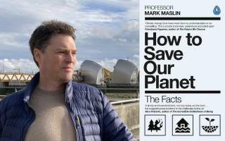 Mark Maslin and book cover - How to save our planet