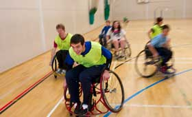 UCL Volunteers helping with Paralympic sports taster day