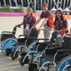 Thumbnail: Maria Wykes with mobility team