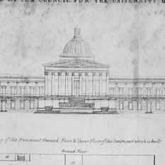 The original plan for the College  (thumbnail)