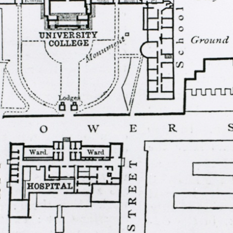 A plan of the College as it was in 1887 (thumb)