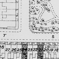 A plan of the College prepared by F M Simpson in 1923 (thumb)