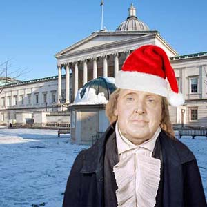 Jeremy Bentham in the festive spirit