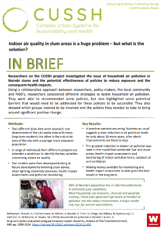 Indoor air quality in slum areas is a huge problem – but what is the solution?