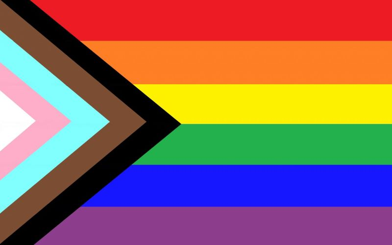 LGBTQ+ flag leading to the focus group page