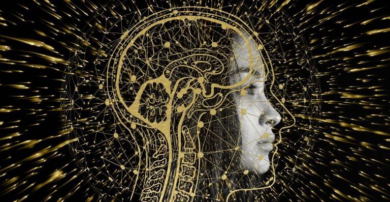 Artificial Intelligence Brain Woman in Science