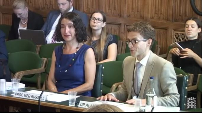Meg Russell and Alan Renwick give evidence to PACAC