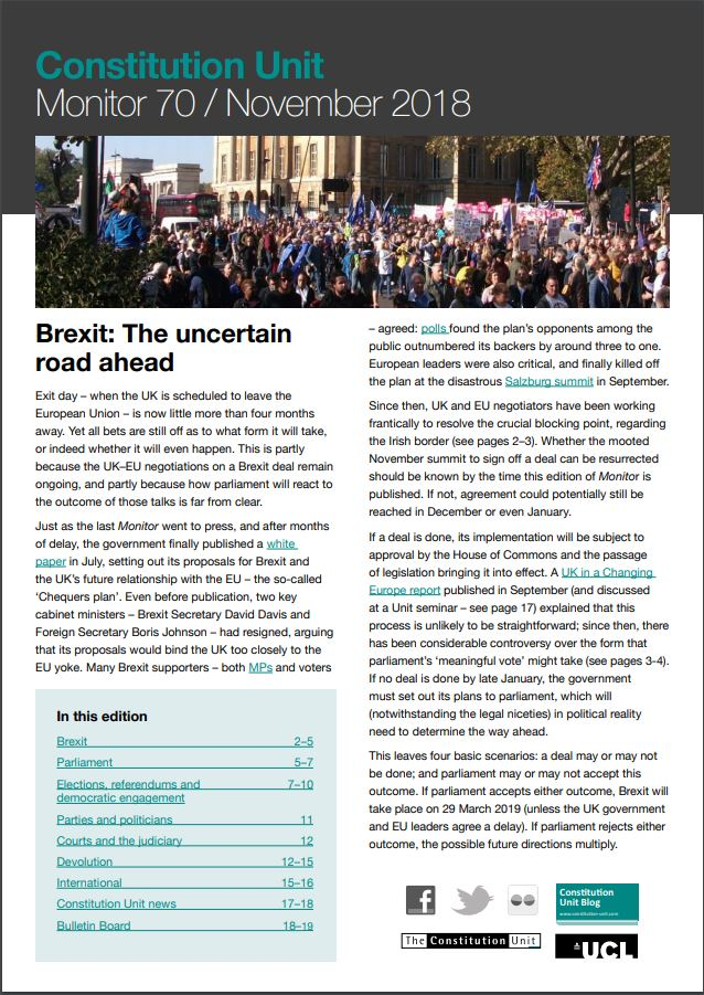 Monitor 70 Brexit: The uncertain road ahead frontpage